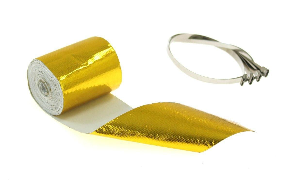 Zestaw Taśma termiczna złota 5m + opaski - GRUBYGARAGE - Sklep Tuningowy